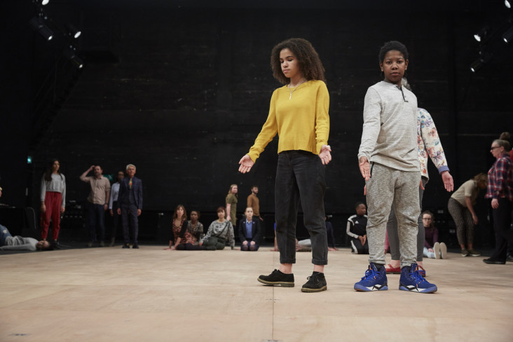 Featured News Post Two boys standing on stage at Bristol Old Vic
