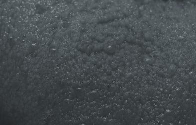 A black and white macro photo of a tongue